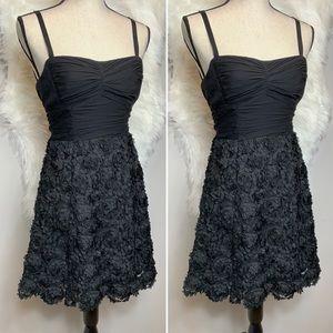 nanette lepore •• tulle floral strapless dress